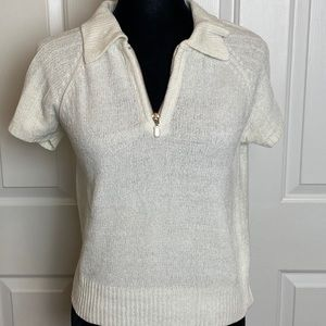 GUESS Jeans Women's Sweater Top with Zipper.